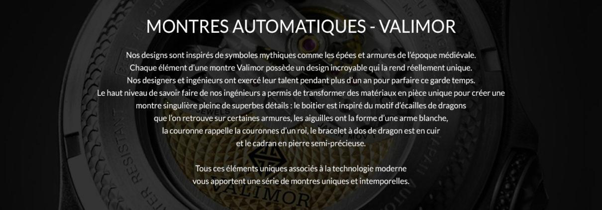Montres Automatiques VALIMOR
